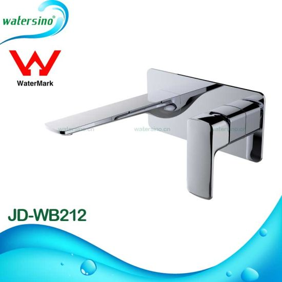 7 Years Watermark Guarantee Brushed Gold Luxury Wall Bathroom Mixer pictures & photos