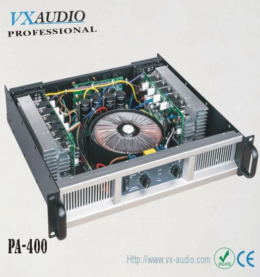 China 2 Channel Class H Professional Power Amplifier 2*400W