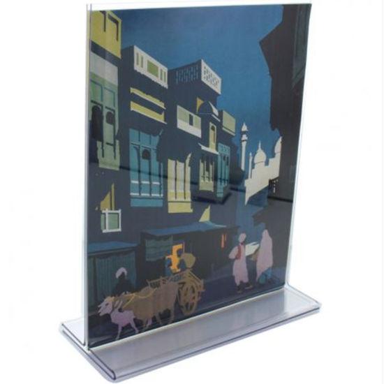 China Custom Printed Acrylic Sign Holders 4040 X 40 Card Advertising Fascinating Art Print Display Stand