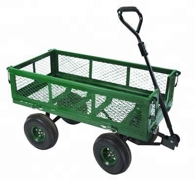 High Quality Powder Coated Foldable Garden Trolley Beach Wagon Folding Cart with Outer Bag