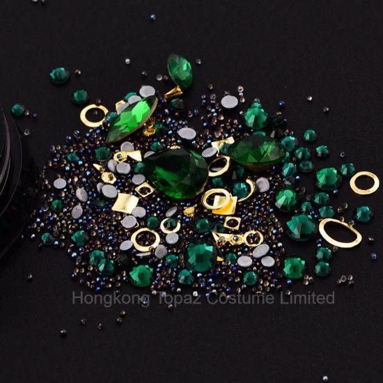 China 2018 New Arrive High Quality Emerald Nail Art Rhinestone Non