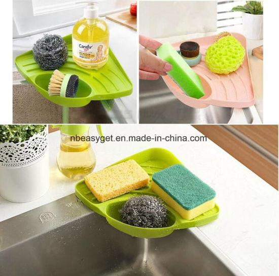 China kitchen sink caddy sponge holder scratcher holder cleaning kitchen sink caddy sponge holder scratcher holder cleaning brush holder sink organizer esg10226 workwithnaturefo