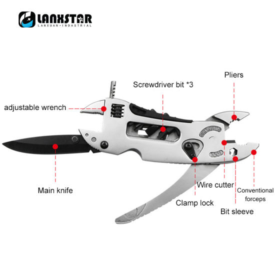 Outdoor Camping Portable Multi-Function Pliers Knife Saw Screwdriver, Wrench Tool Combination