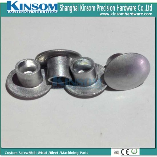 Mushroom Head Customized Nails Aluminum 6063 F22 Semi Tubular Rivet