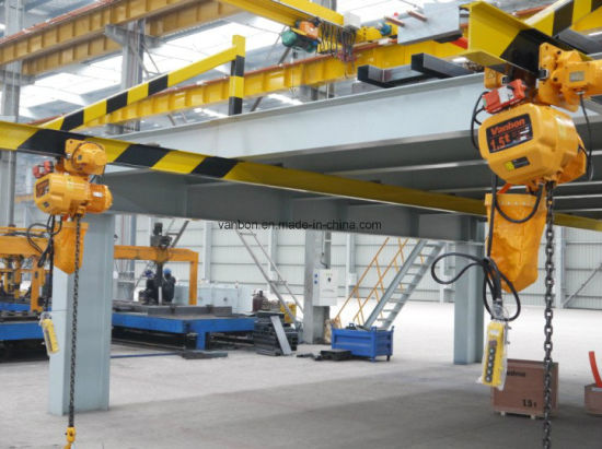 Double Girder Electric Overhead Crane Cabin and Remote Control (QD) pictures & photos