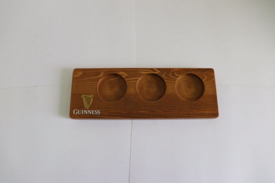 Beer Tasting Set. Beer Flight. 4 Beer Glasses on a Wooden Tray pictures & photos