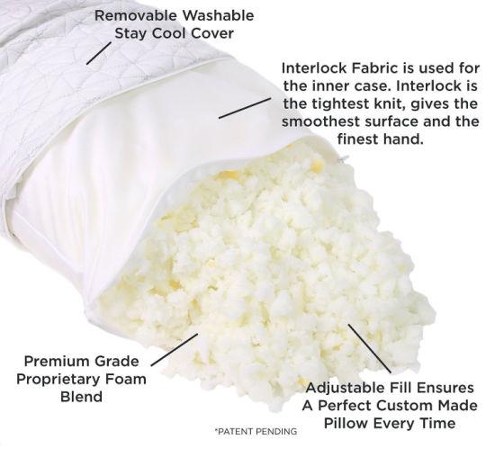 Shredded Hypoallergenic Memory Foam Pillow