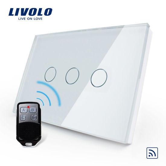 China livolo home remote control touch glass wall light switch vl livolo home remote control touch glass wall light switch vl c303r 8182 aloadofball Images