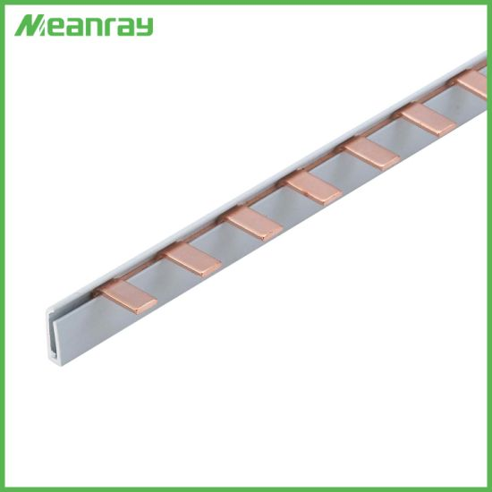 32A to 100A Electric Pin Type Bus Bar System Copper Busbar for Electric Panel