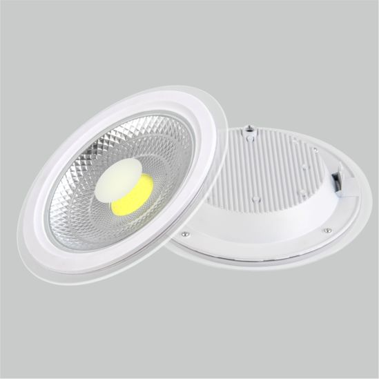 LED Panel Light Round Glass Inside 6W 9W 12W 18W 24W Ceiling Lamp Manufacturer Price Factory Panel Light COB Down Light
