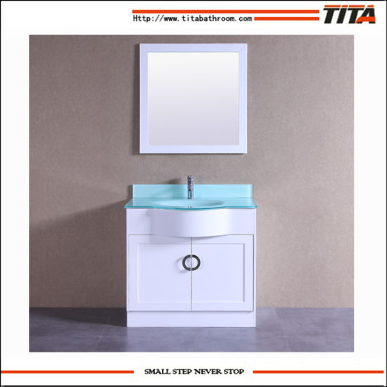 Hangzhou Factory Direct Whole Bathroom Cabinet With Tempered Gl Tops