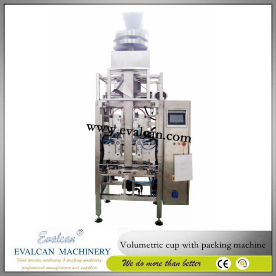 Fully Automatic Snack, Nuts, Granule, Food Sachet Pouch Forming Filling Sealing Weighing Packaging Machine, Packing Machine for Rice and Sugar pictures & photos