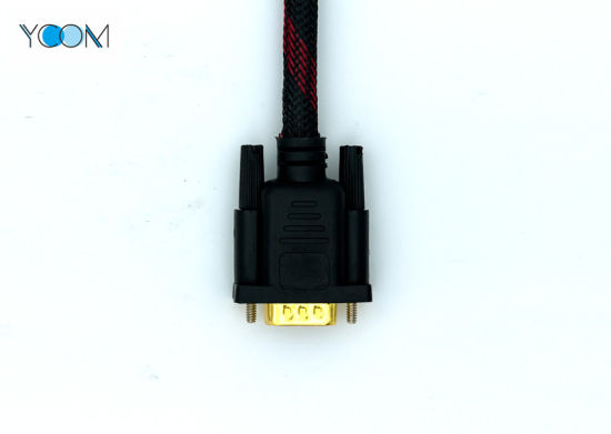 OEM Length Male HDMI Cable to VGA Cable Support 3D with Enthernet pictures & photos