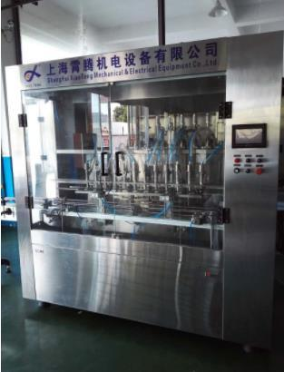 Shanghai Factory Automatic 6 Nozzles Linear Oil Filling Machine Oil Filling Capping Machine