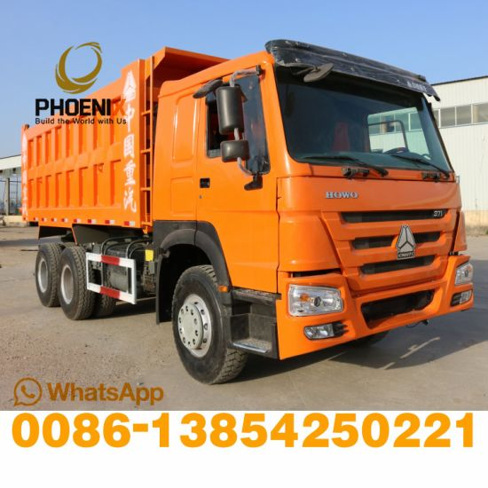 Used Sinotruck HOWO 6X4 Dump Truck 10 Wheels Tipper 371HP with Excellent Condition for Africa
