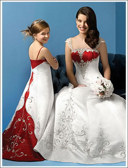Wedding Dress Red Embroidery Beading
