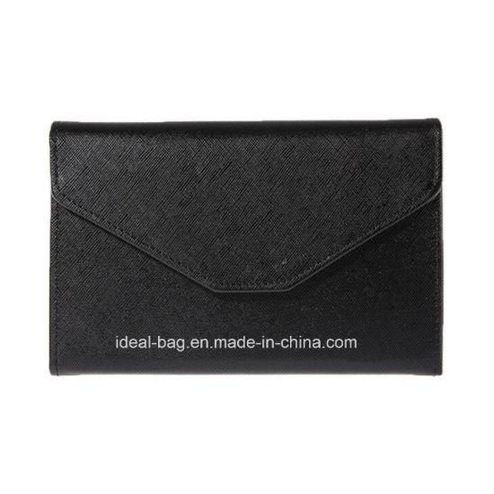 Custom PU Leather Lady Travel Envelope Clutch Bag Women Fashion Designer Document Ticket Passport Holder Ladies Purse Wallet Promotional