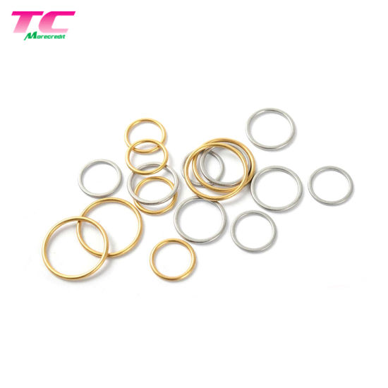 SGS Eco Friendly Swimwear Zinc Alloy Bra Strap Gold Rings Sliders Hooks Adjusters pictures & photos