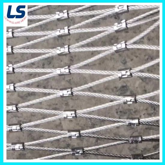 Stainless Steel Hand Woven Wire Rope Mesh for Protective Zoo Mesh pictures & photos