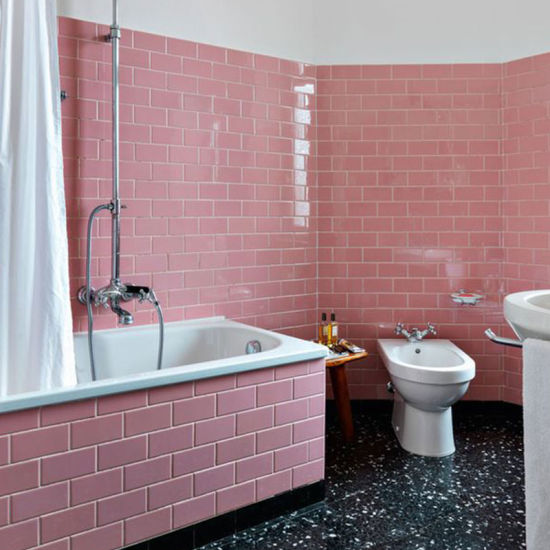 Pink Tile 100x200mm 4x8 Inch Ceramic