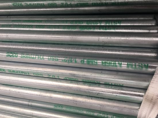 Astma123 Hot Dipped Galvanized Gi Steel Pipe Seamless Used in Pipeline and Construction pictures & photos