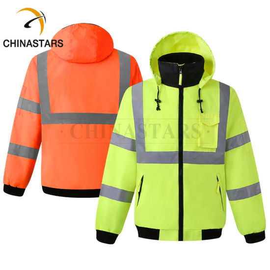 High Visibility Mens Class 3 Safety Clothing Reflective Jacket with Reflective Tape