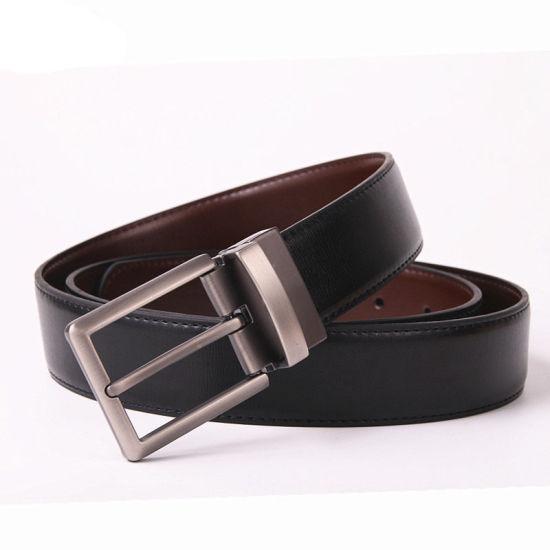 "Beltox Fine Men/'s Dress Belt Leather Reversible 1.25/"" Wide Rotated Buckle Gift"