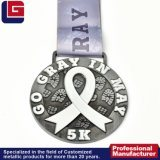 Low Price New Design Custom Personalized 3D Embosses Casting Gold Plated Finisher Metal Award Medal