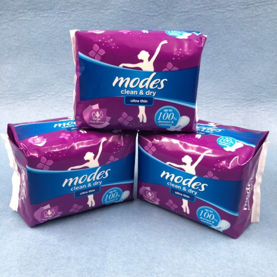 Wholesale Sanitary Products Woman Lady Ultra Thin Cotton Sanitary Napkin Pads