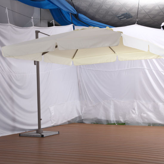 Outdoor Polyester Parasol Aluminium Sun Umbrella