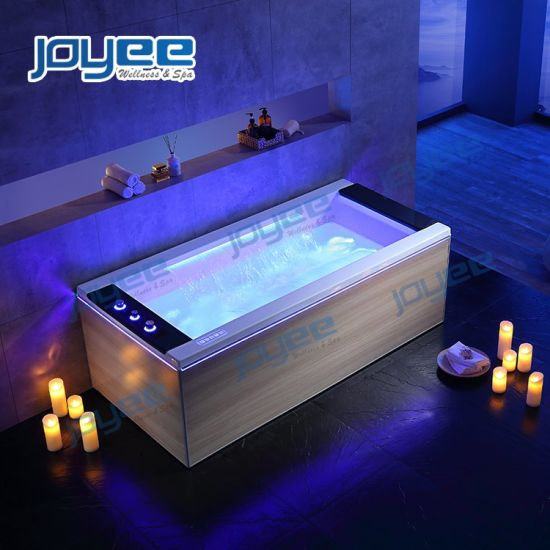 China Joyee 1 Person Whirlpool Small Massage Bathtub Hot Tub Indoor Spas With Shower China Indoor Jacuzzi Jacuzzi Bathtub