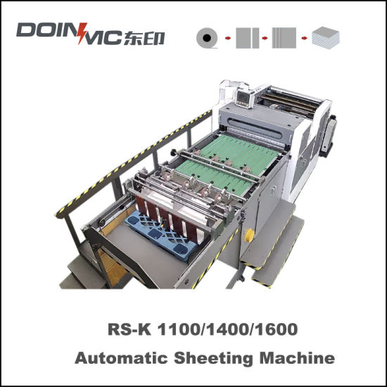 Ribbed Kraft Paper Roll to Sheets Cross Cutting Machine Sheeter Machinery with Automatic Stacking Unit China Good Price