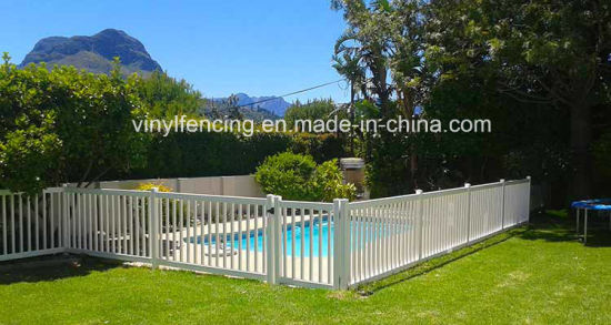 PVC Plastic White Pool Fences / PVC Valla De Jardin pictures & photos