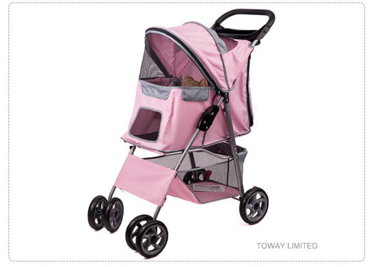 Quality 4 Wheels Pet Cart Trolley Dog Home Strollers