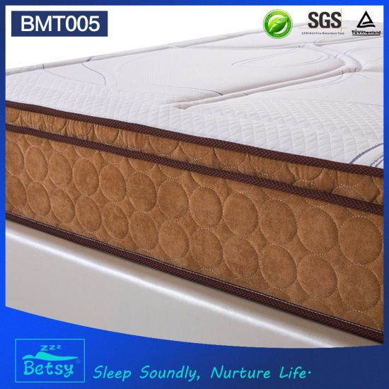OEM Resilient Hotel Mattress 28cm with Relaxing Pocket Spring Knitted Fabric and Memory Foam Layer pictures & photos