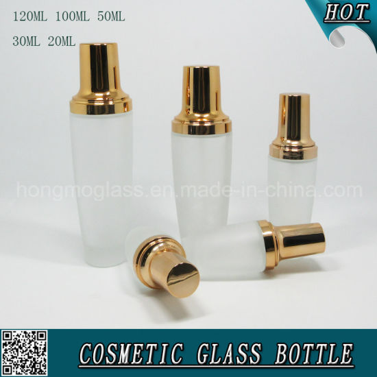 Frosted Cosmetic Glass Spray Bottle with Rose Gold Lids pictures & photos