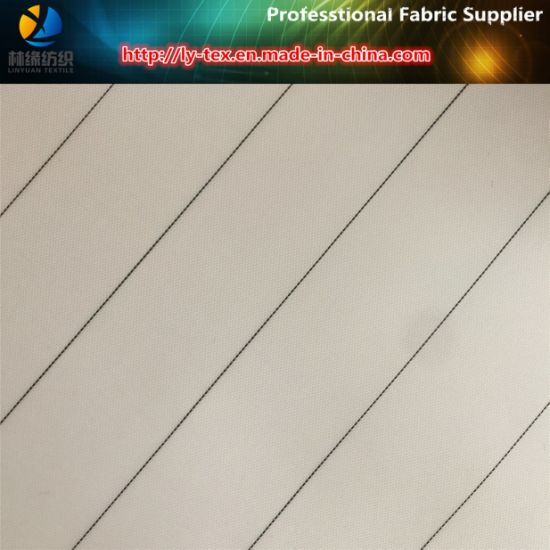Black Line, White Ground/Herringbone Polyester Men Suit Lining Fabric (S80.91) pictures & photos