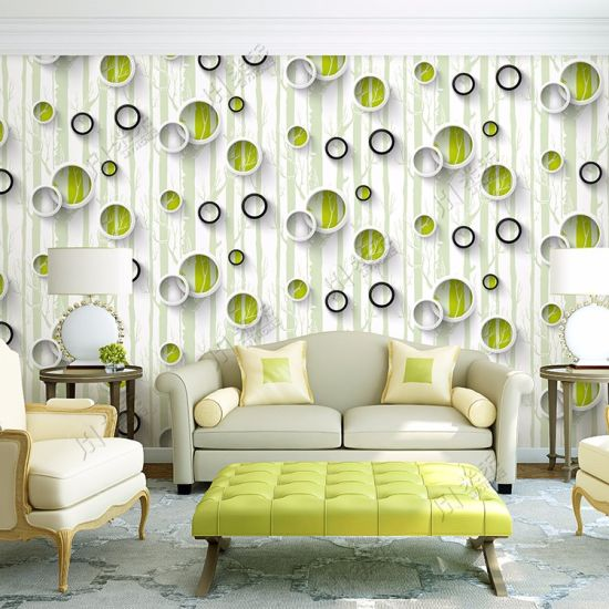 China High Quality Pvc Living Room 3d Wallpaper For Interior Wall