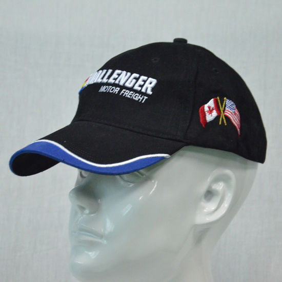 d497b82d8f4 Custom Sports Protection Black Visor Hat 6 Panels Cotton Baseball Cap with  3D Embroidery