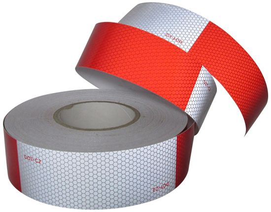 """2""""x150' DOT-C2 Conspicuity Tape Reflective Approved Trailer Red White 1 Roll"""