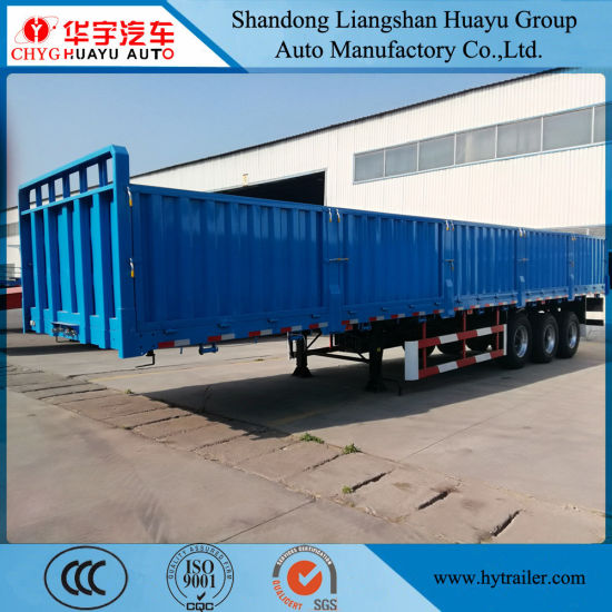 2/3 Axle Heavy Duty Side Wall/Side Board/Drop Side/Fence/Stake Utility Cargo Truck Semi Trailer with Container Lock