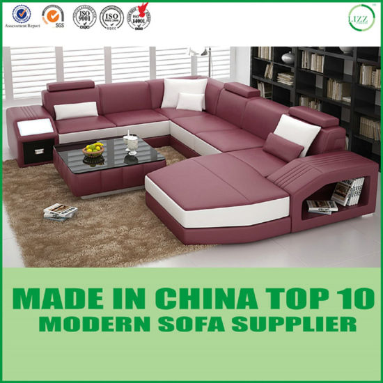 White U Shaped Modern Sofa pictures & photos