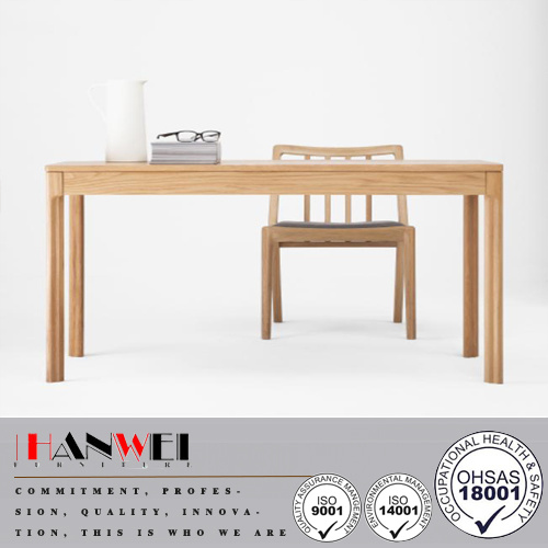 American Oak 2drawer Desk Wooden Writing Dining Kitchen Office Table pictures & photos