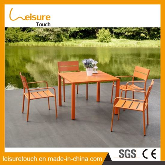 China Durable Aluminum Homehotel Table Set Patio Dining Table And