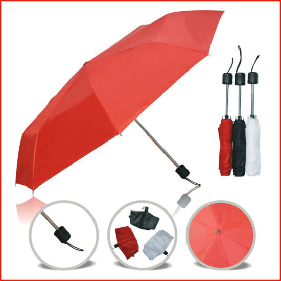 Hot Sell 21 Inch Cheap Custom Manual Open 3 Folding Supermini Umbrella