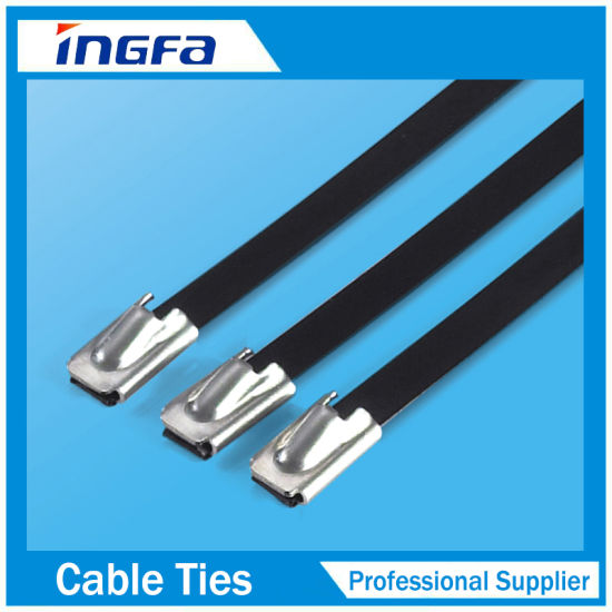 201 304 316 PVC Covered Metal Self Lock Cable Tie pictures & photos