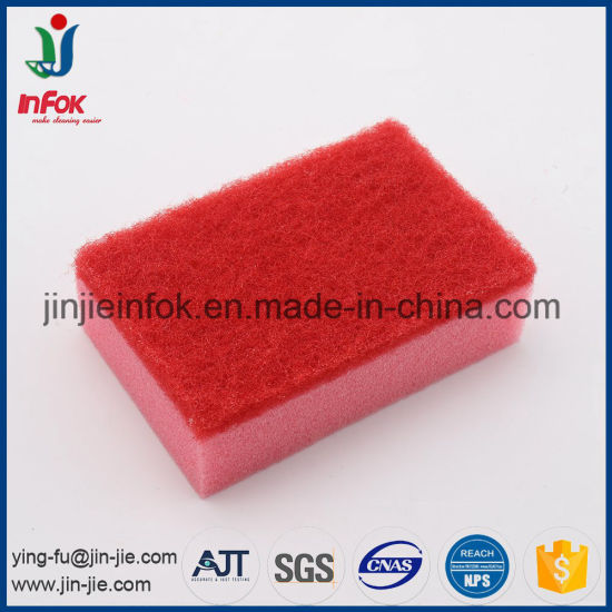(YF-SP06) Colorful Household Items Non-Scratch Sponge Scrubber pictures & photos