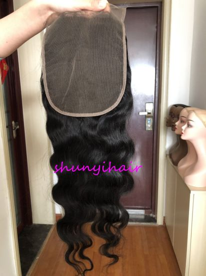 7*7 Body Wave Closure Wholesale Price Top Quality Pre Plucked