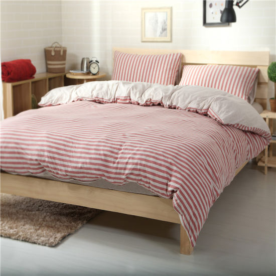 new style d7f49 038b2 China Luxury Cotton 4piece Stripe Bedding Suite for Home ...