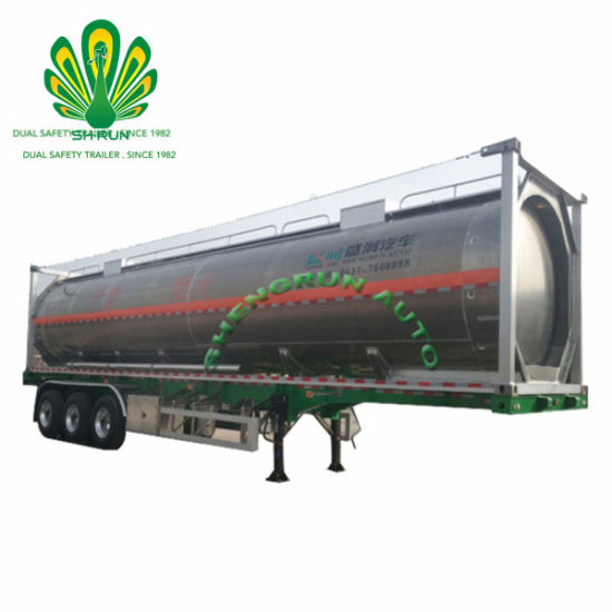 40FT ISO Aluminum Alloy Oil Container Tanker/Water Container Tanker/Crude Oil Tank Container